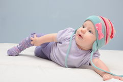 Baby girl posing Stock Photography
