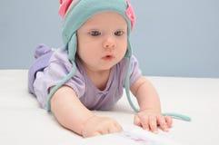 Baby girl posing Stock Image
