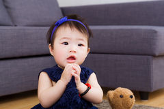 Baby girl pray Stock Photography