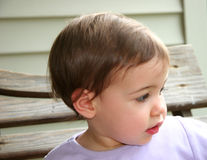 Baby Girl Profile Royalty Free Stock Photo