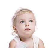Baby girl in a red new year cap Royalty Free Stock Photography