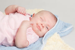 Baby Girl Relaxed Pose Stock Images