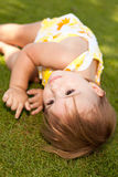 Baby girl resting Royalty Free Stock Photos
