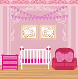 Baby girl room Royalty Free Stock Photos