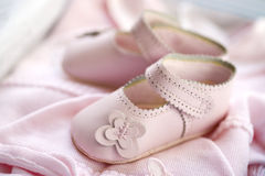 Baby girl's clothes Royalty Free Stock Photo