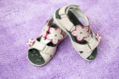 Baby girl's sandals Royalty Free Stock Image
