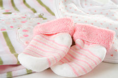 Baby girl's socks Royalty Free Stock Photography