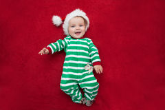Baby girl Santa Claus. Royalty Free Stock Photos