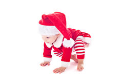 Baby girl santa helper Royalty Free Stock Photos