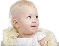 Baby girl with a scarf Royalty Free Stock Images