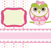 Baby girl Scrap background. Stock Image