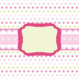 Baby girl Scrap background. Royalty Free Stock Photo