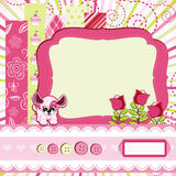 Baby girl Scrap background. Royalty Free Stock Photos