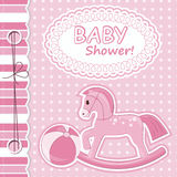 Baby girl scrapbook card. Vector illustration Royalty Free Stock Image