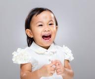 Baby girl scream Stock Photos
