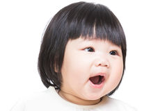 Baby girl screaming Stock Photo