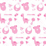 Baby Girl Seamless Background Royalty Free Stock Image