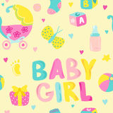 Baby Girl Seamless Background Stock Photos