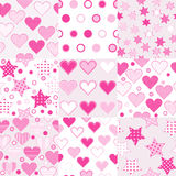 Baby girl seamless background patterns Stock Image