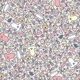 Baby girl seamless pattern. Stock Images