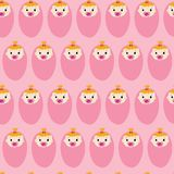 Baby shower girl seamless repeat vector pattern vector illustration