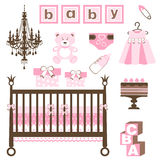 Baby girl set Stock Image