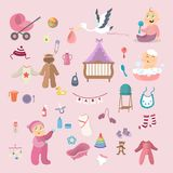 Baby girl set. Stock Image