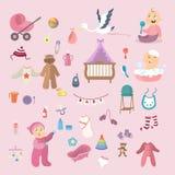 Baby girl set. Stock Image