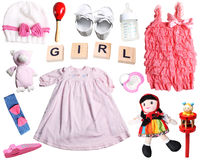 Baby girl set Royalty Free Stock Photos