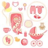 Baby Girl Set Stock Photos