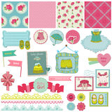 Baby Girl Set Stock Images