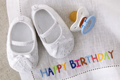 Baby girl shoes Royalty Free Stock Photo