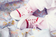 Baby girl shoes. Royalty Free Stock Image