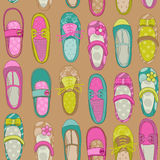 Baby Girl Shoes Background Royalty Free Stock Images