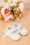 Baby girl shoes Royalty Free Stock Photography