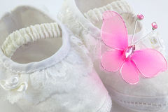 Baby girl shoes Stock Photo