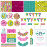 Baby Girl Shoes Party Set Royalty Free Stock Photos