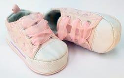 Baby girl shoes Stock Photos