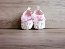 Baby girl shoes Stock Images