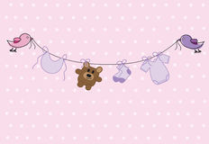 Baby Girl Shower Stock Image