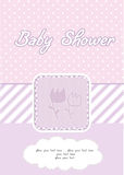 Baby girl shower card. With flowers Royalty Free Stock Image