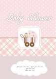 Baby girl shower card. In  format Royalty Free Stock Photos