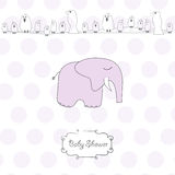 Baby girl shower card Royalty Free Stock Photography