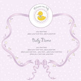 Baby girl shower card. In  format Royalty Free Stock Images