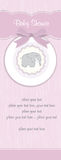 Baby girl shower card. With pink elephant Royalty Free Stock Photography