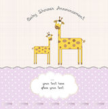 Baby girl shower card Stock Photos