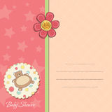 Baby girl shower card Stock Photography