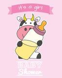 Baby girl shower card Stock Image