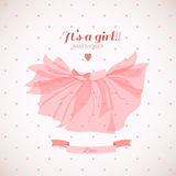 Baby girl shower card. Cute baby girl shower card Stock Image
