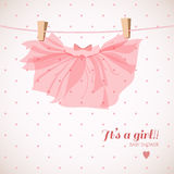 Baby girl shower card. Cute baby girl shower card Royalty Free Stock Photography